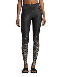Alo Yoga Tech Lift Airbrush Sports Leggings City Lights Black Pattern