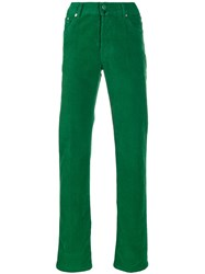 Kiton Corduroy Straight Leg Trousers Green
