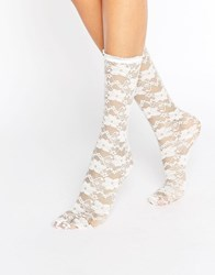 Gipsy White Lace Socks White