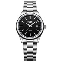 Rotary Lb05092 04 'S Oxford Date Bracelet Strap Watch Silver Black