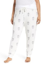 Pj Salvage Plus Size Skull Jogger Pants Natural