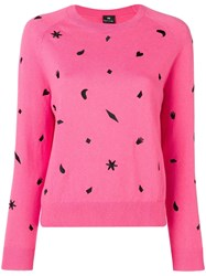 Paul Smith Ps By Urban Jungle Embroidered Jumper Pink