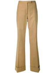 Gianfranco Ferre Vintage 1990 Pinstriped Trousers Neutrals