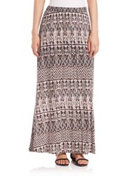 Joie Gamille Printed Maxi Skirt Caviar
