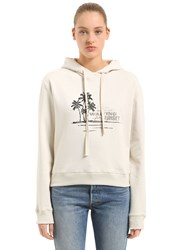 Saint Laurent Waiting For Sunset Hooded Sweatshirt Off White
