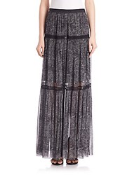 Elie Tahari Arlington Silk Maxi Skirt Black