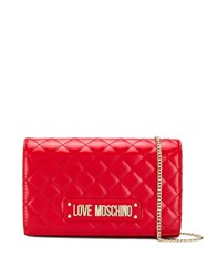 Love Moschino Quilted Cross Body Bag Red