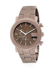 Gucci Round Pvd Chronograph Watch Brown