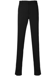 Alexander Mcqueen Tuxedo Trousers Men Silk Acetate Viscose Mohair 52 Black