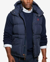 Polo Ralph Lauren Men's Big And Tall Puffer Down Vest Worth Navy