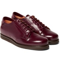 Mccaffrey Sportivo Polished Leather Derby Shoes Burgundy
