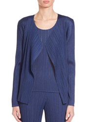 Issey Miyake Draped Open Front Cardigan