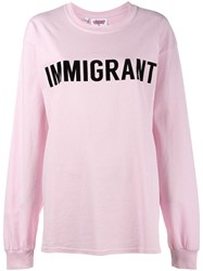 Ashish Immigrant T Shirt Pink Purple