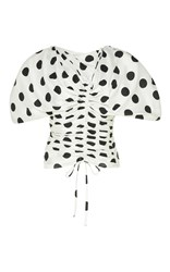 Jacquemus Structured Cap Sleeve Top Print