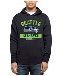 47 Brand '47 Men's Seattle Seahawks Gym Issued Hoodie Navy Lime