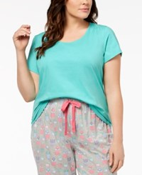Charter Club Plus Size Cotton Knit Pajama Top Created For Macy's Riverwalk