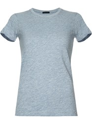 Atm Anthony Thomas Melillo Round Neck T Shirt Blue