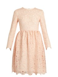 Huishan Zhang Axelia Cloud Lace Long Sleeved Dress Light Pink