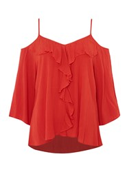Therapy Chelsea Cold Shoulder Top Red