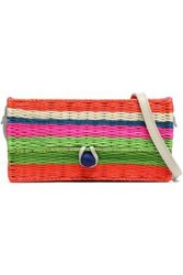 Sophie Anderson Striped Straw Shoulder Bag Multicolor