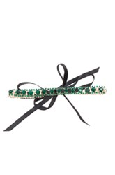 Erth For Fwrd Vintage Crystal Choker In Metallics Green Metallics Green
