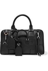 Loewe Amazona Multiplication Small Leather Tote Bag Black