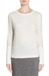 Women's Pink Tartan Long Sleeve Tee Cream