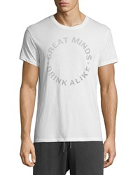 Sol Angeles Great Minds Drink Alike Graphic Short Sleeve Tee White Men's