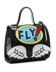 Tua Comic Fly Satchel Black