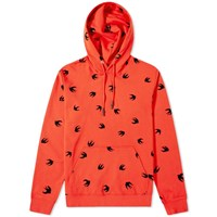 Mcq By Alexander Mcqueen All Over Print Swallow Popover Hoody Red