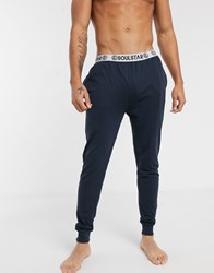 Soul Star Organic Cuffed Lounge Pant In Navy