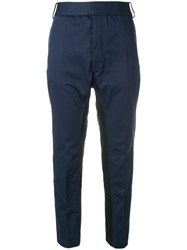 Haider Ackermann Silene Cropped Tapered Trousers Blue