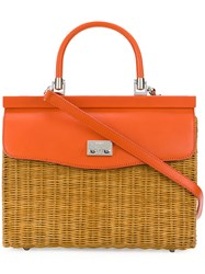 Rodo Woven Tote Bag Yellow And Orange