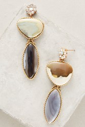 Anthropologie Avelina Agate Drop Earrings Red