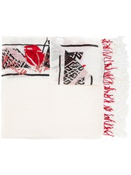 Dorothee Schumacher Abstract Print Scarf White