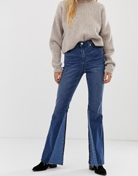 Blank Nyc Panelled Flare Jean Blue