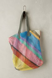 Anthropologie Emily Plaid Mesh Tote Assorted
