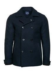 Raging Bull Men's Melton Peacoat Navy