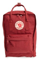 Fjall Raven Men's Fj Llr Ven 'K Nken' Laptop Backpack Red Ox Red