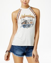 American Rag High Neck Crochet Tank Top Only At Macy's Egret Combo