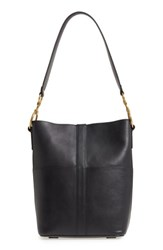 Frye Ilana Harness Leather Bucket Hobo Black