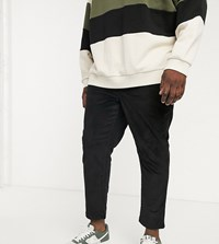 New Look Plus Pull On Cord Trousers In Black