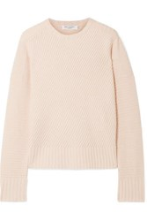 Equipment Abril Ribbed Wool And Cashmere Blend Sweater Pastel Pink