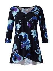 Grace Made In Britain Floral Tunic Black