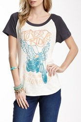 Lucky Brand Motorcycle Zipper Back Tee Multi