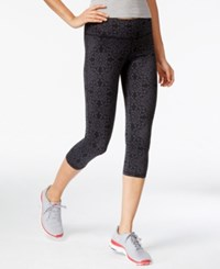 Ideology Printed Cropped Leggings With Headband Gift Set Only At Macy's Charcoal Medallion