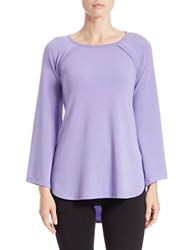 Context Hi Lo Raglan Top Pleasant Purple