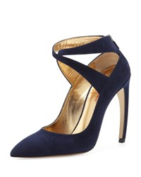 Walter Steiger Suede X Cross Midnight Navy Women's