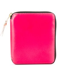 Comme Des Garcons Wallet Neon Panel Wallet Unisex Leather One Size Pink Purple