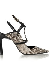 Lanvin Python And Leather Pumps Animal Print